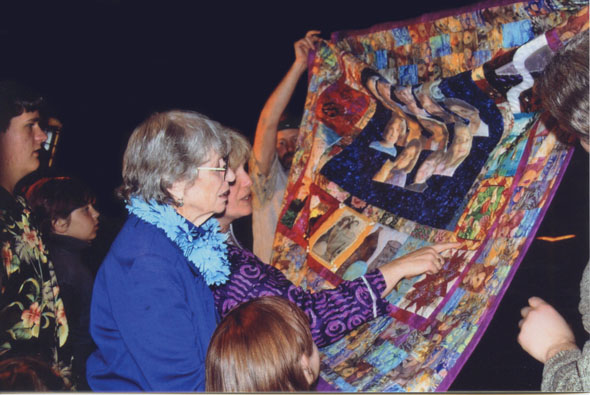 Family viewing quilt